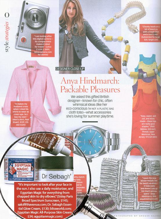 Anya Hindmarch, Oprah Magazine